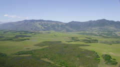 Aerial view of Californian State National Parks Stock Footage