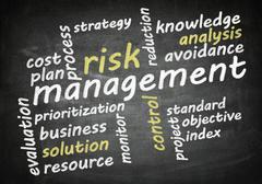 Blackboard risk management Stock Illustration