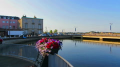 The Crescent in Wexford Town Ireland Stock Footage
