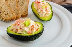 stuffed with avocado - stock photo
