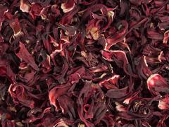 Aromatic hibiscus tea Stock Photos