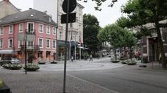 Lichtentaler street near Augusta square (Augusta platz). Baden-Baden. Germany Stock Footage
