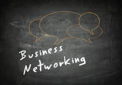 business network - stock illustration