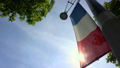 French Flag with sun - stock footage