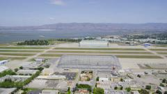 Aerial view of a San Francisco airport Stock Footage