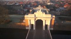 Menen Poort Aerial Shot Stock Footage