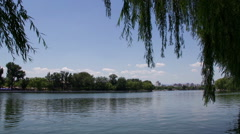 Houhai park at daytime HD. Stock Footage