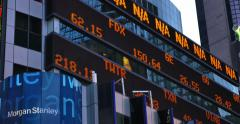 4K Times Square Stock Market Ticker - stock footage