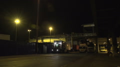 024Sweden port night loading stenaline ferry Stock Footage
