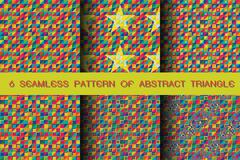 seamless pattern of abstract triangle background - stock illustration