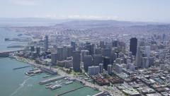 Aerial view of San Francisco Business Center Stock Footage
