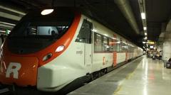 Train leaving platform - Underground Stock Footage
