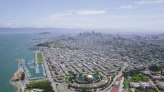 Aerial San Francisco City Bay area Stock Footage