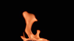 Pre keyed flame on black background, alpha channel integrated Stock Footage