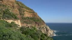 Chapmans Peak Drive,Capetown.Wide shot Stock Footage