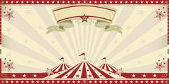 Stock Illustration of circus red invitation