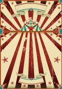Stock Illustration of dirty circus poster