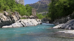 River Ara in Ordesa valley 2 Stock Footage