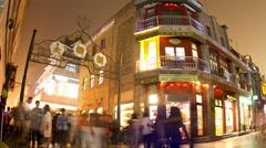 Qianmen pedestrian street at night HD. Stock Footage