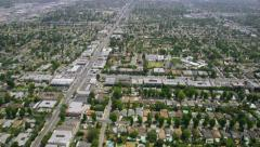 Aerial view of Silicon Valley area in California - stock footage