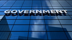 Government building blue sky timelapse. Stock Footage