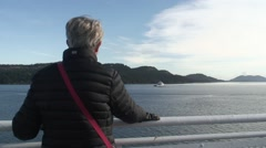 Woman on Ferry - stock footage