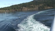 Stock Video Footage of Ferry wake1