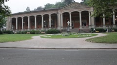 View of Trinkhalle (Pump Room), Baden-Baden, Germany Stock Footage