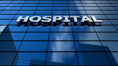 Hospital building blue sky timelapse. Stock Footage