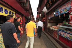 Qibao market time lapse 4K 24 Stock Footage