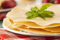 Stock Photo of delicious homemade french crepes