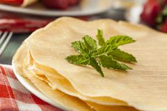 delicious homemade french crepes - stock photo