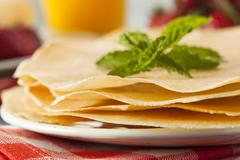 Delicious homemade french crepes Stock Photos
