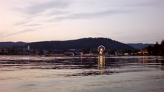 Lake side shot of titisee Stock Footage