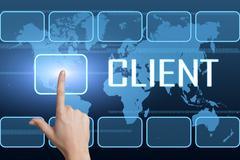 client - stock illustration