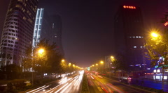 Beijing 3rd rind road at night HD. Stock Footage