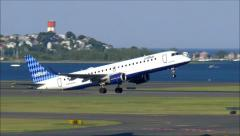 JetBlue Airlines taking off Stock Footage