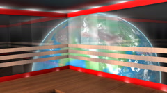 Virtual broadcasting set, internet, TV, stage, background. Stock Footage