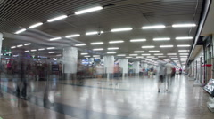 Inside view of Beijing west railway station HD. Stock Footage
