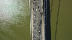Aerial view of Tappan Zee Bridge New York City Arkistovideo