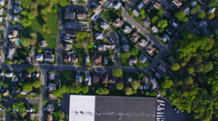 Aerial California Suburban Homes surv Stock Footage