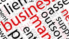 Animated Business Words Stock Footage