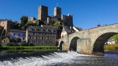 Runkel - a Small Town in Germany on the River Lahn (Hesse) Stock Footage