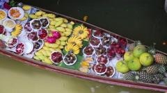 Floating market, bangkok, thailand Stock Footage