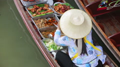 Floating market, bangkok, thailand Stock Footage