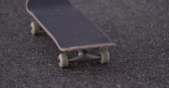 Lonely skate board closeup Stock Footage