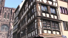 France - Alsace - Strasbourg Cathedral Stock Footage