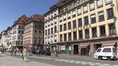 France - Streetlife in Strasbourg Stock Footage