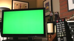 Greenscreen on Big Screen TV Dolly In 4K - stock footage