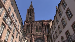 France - Alsace - Cathedral Stock Footage